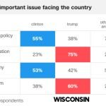 Exit polls from Wisconsin in the 2016 general election.